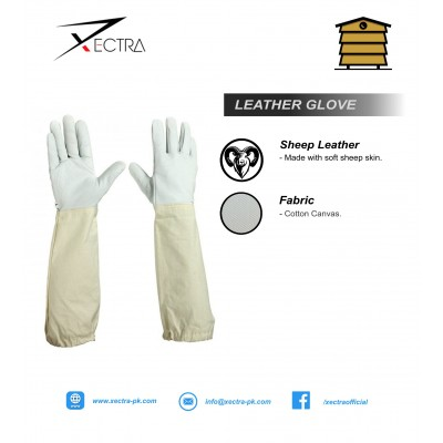 Beekeeping Leather Gloves White A+ Grade XI 706