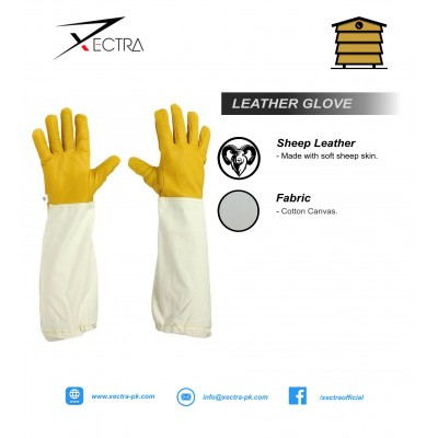 Beekeeping Leather Glove Yellow Grade A+ XI 707