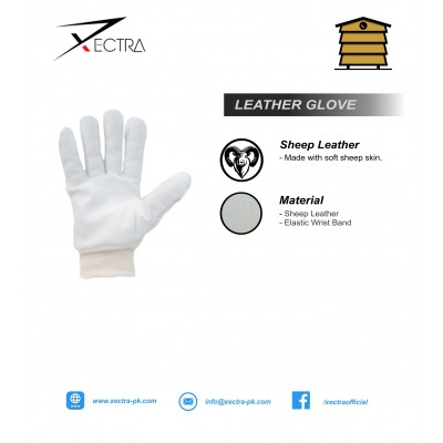 Beekeeping Leather Glove W/No Gauntlet