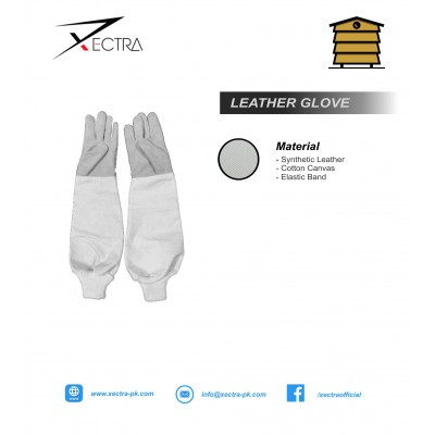 Beekeeping Synthetic Leather Gloves White