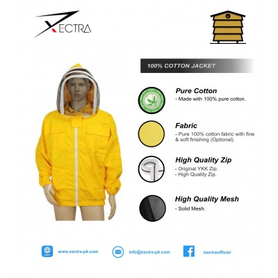 Beekeeping  Jacket With Fencing Veil Yellow