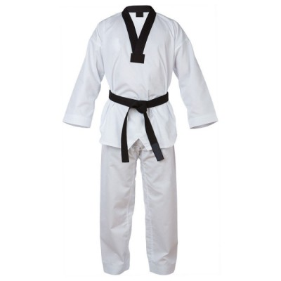 Xectra Taekwondo Uniform With Black V-Neck.